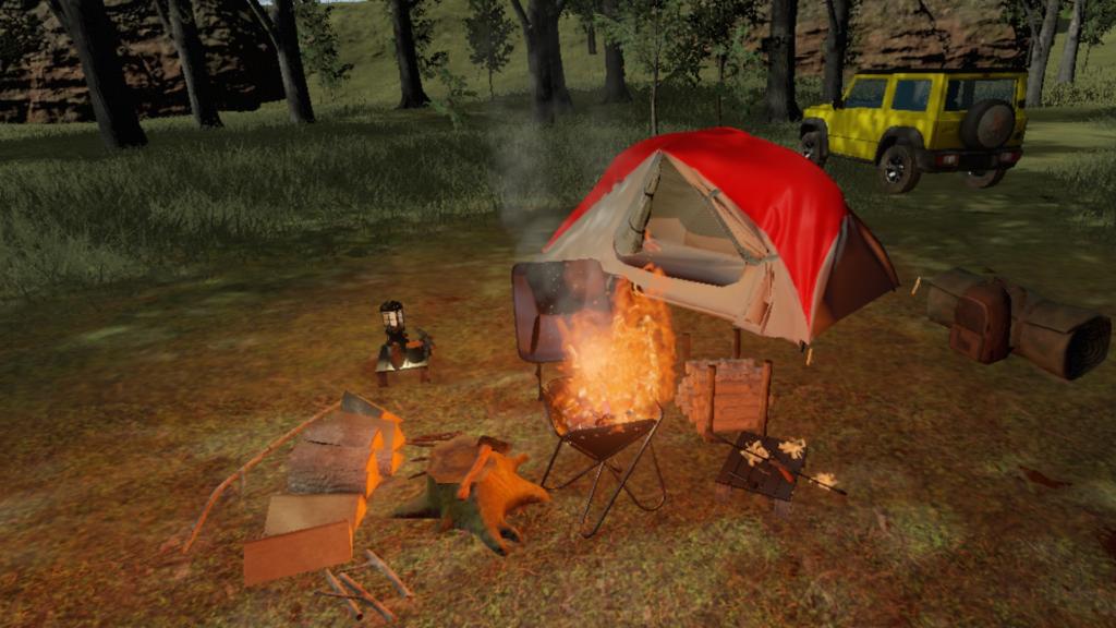 北海道の広大なキャンプ場を再現